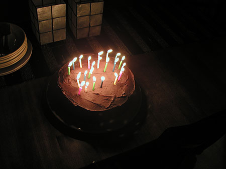 the candles placed to make the number 29