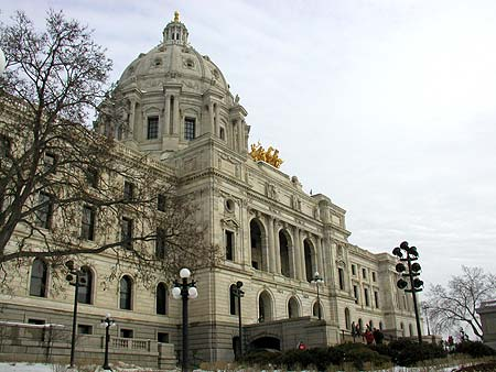 approaching the minnesota state capitol