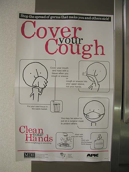 cover your cough, dammit