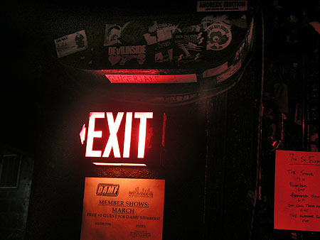 the entry's exit