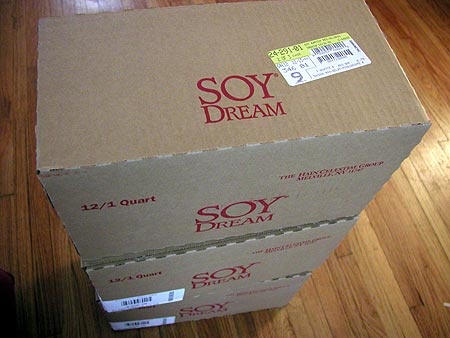 three cases of soy dream
