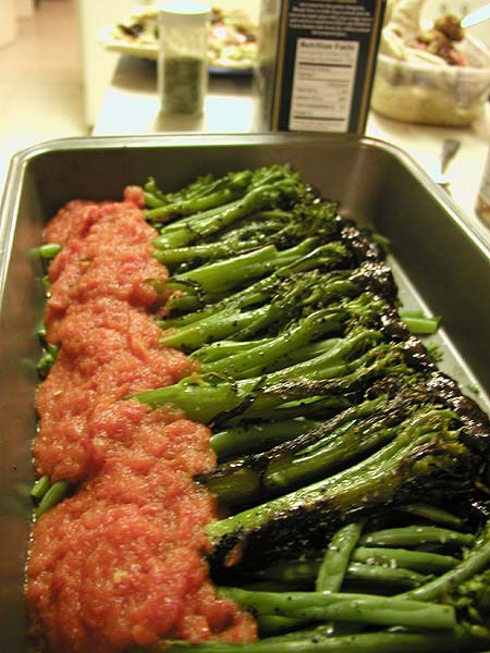 broccolini with two sauces
