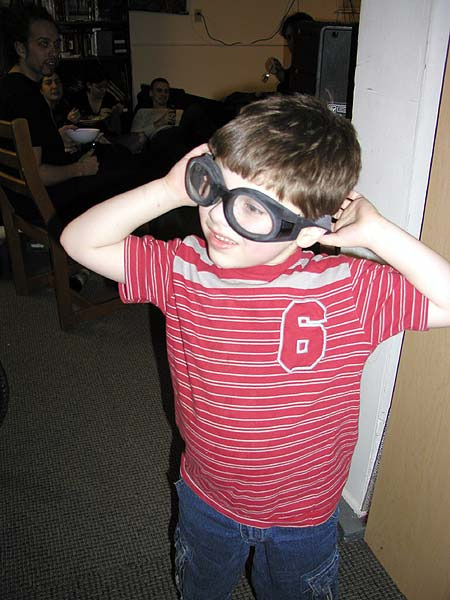 the little man with some found goggles